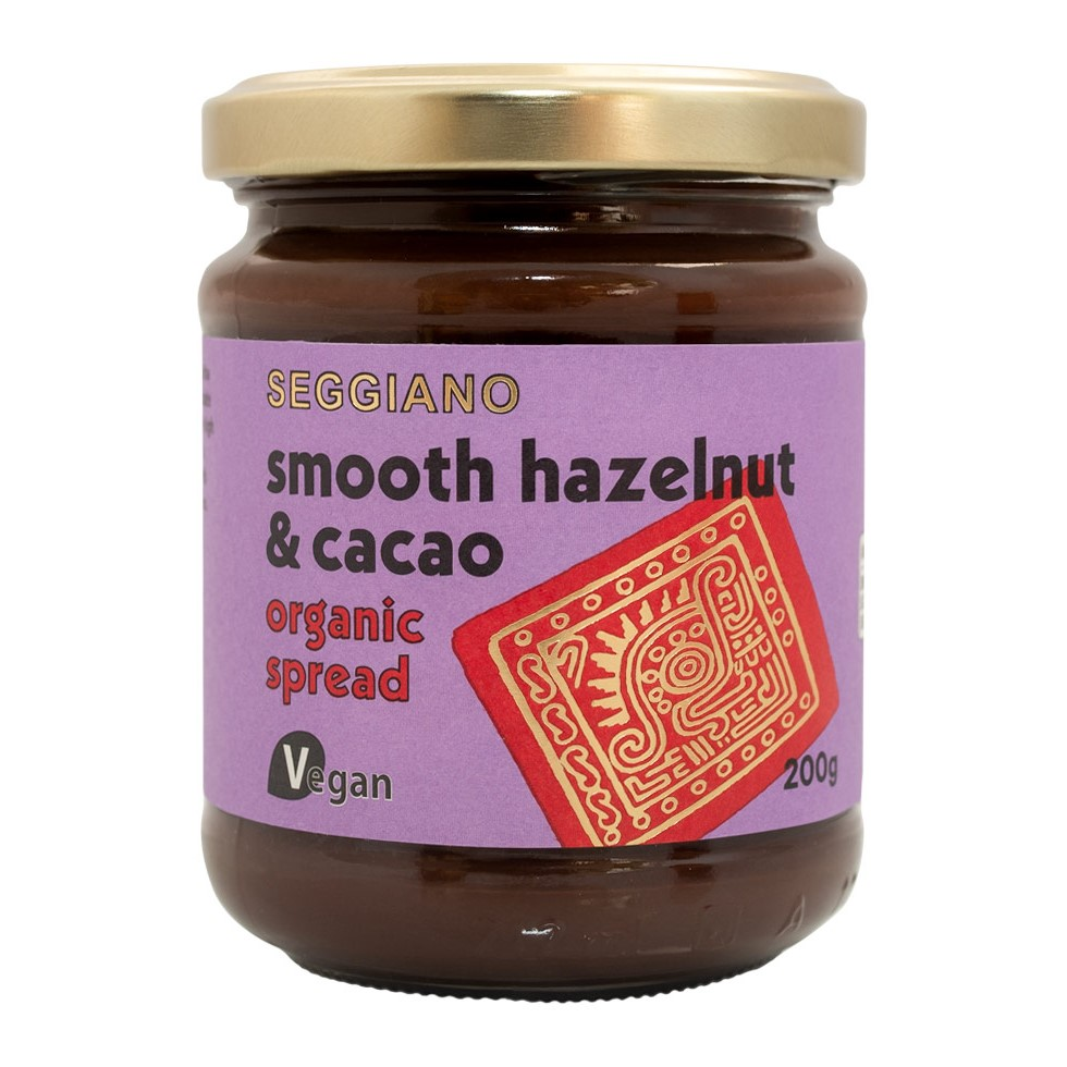Seggiano Smooth Hazelnut & Cacao Spread Plant Based 200g