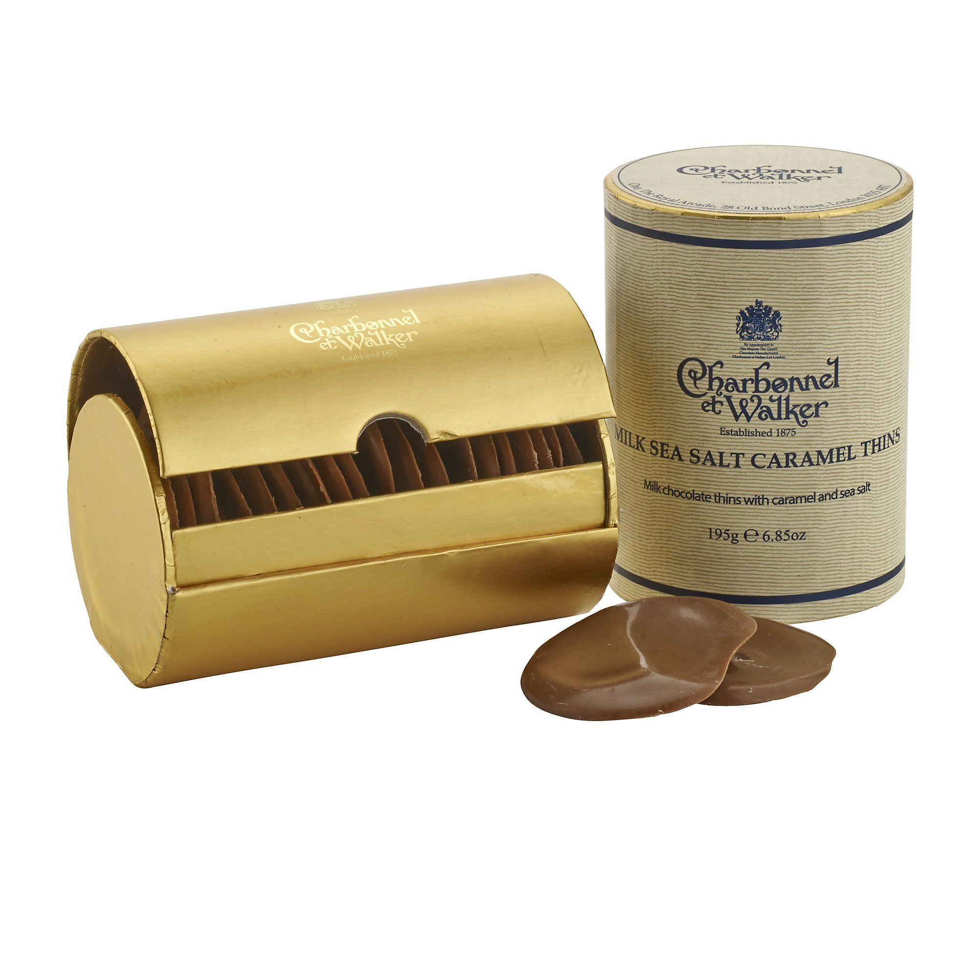 Charbonnel Et Walker Milk Sea Salt Caramel Thins 200g