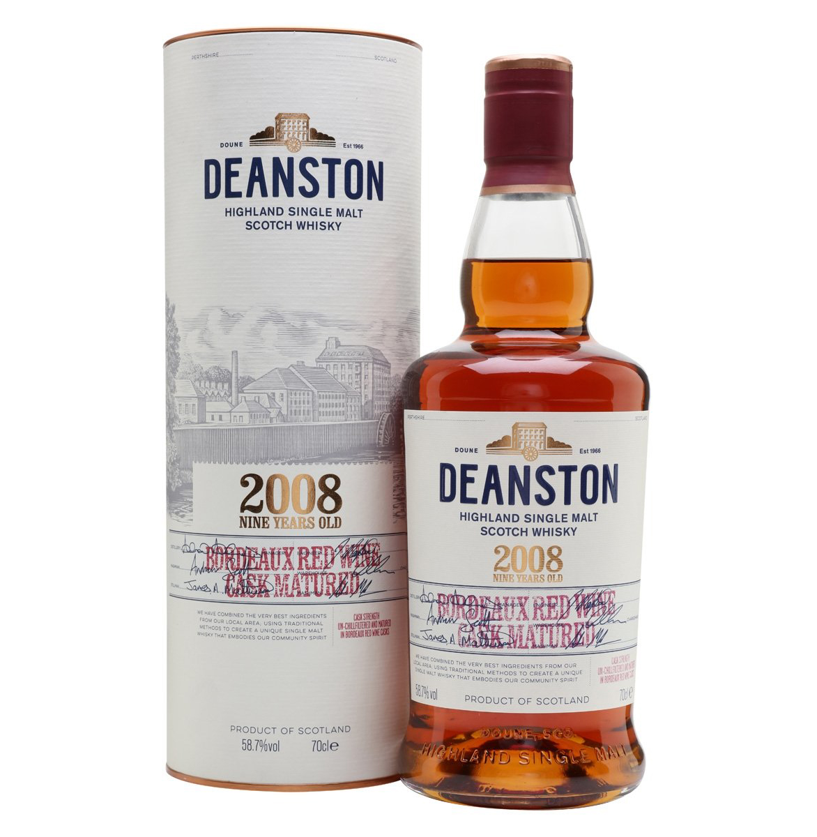 Deanston 2008 - Red Wine Matured 70cl