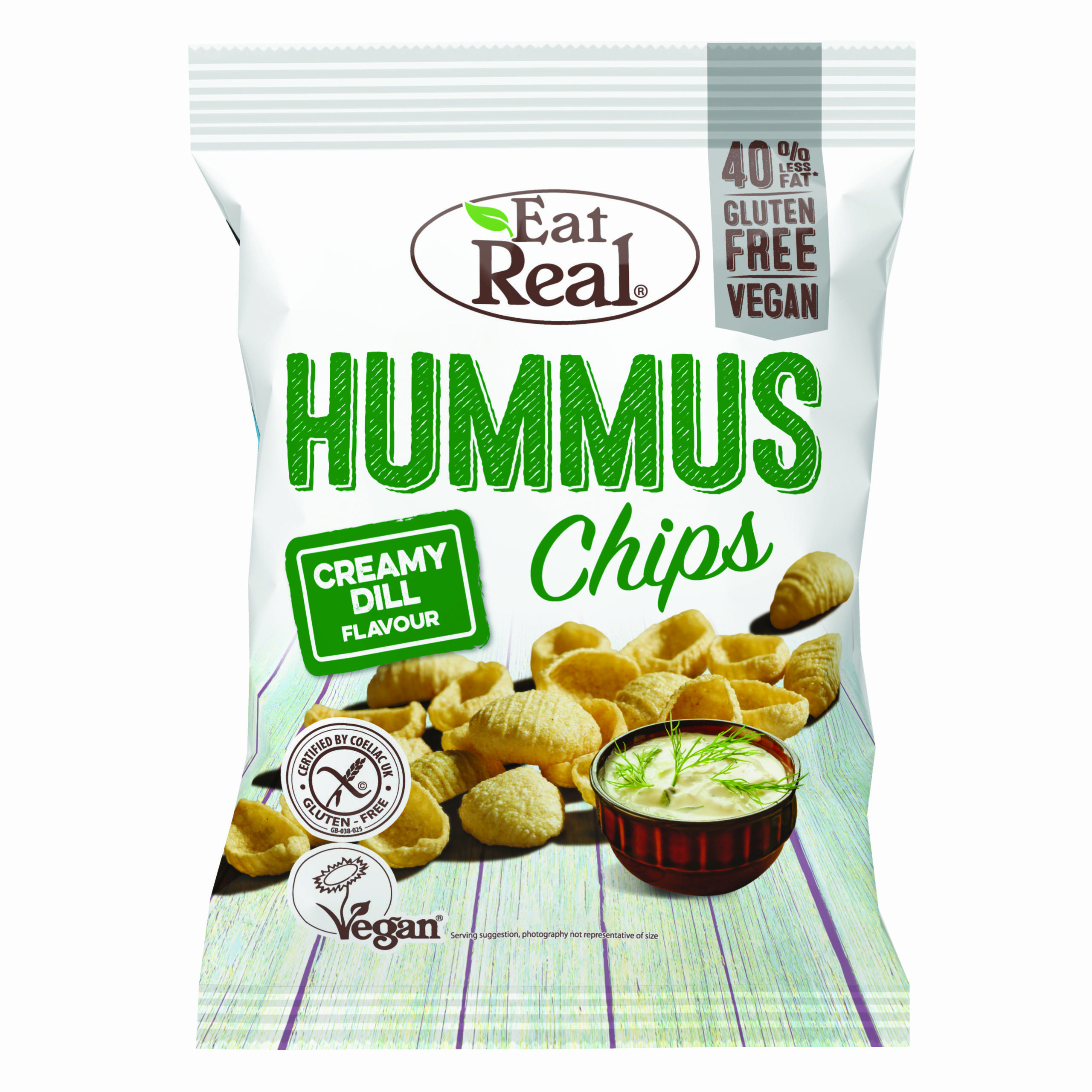 Eat Real Hummus Chips Creamy Dill 135g