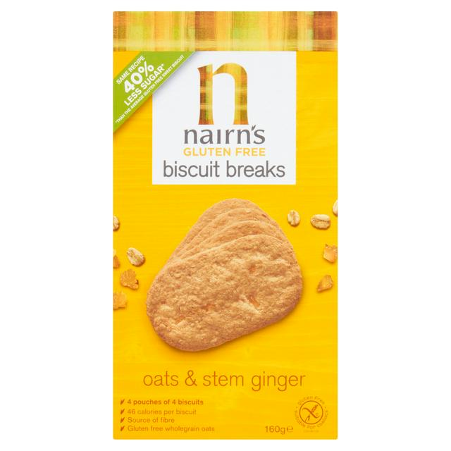 Nairn's Gluten Free Biscuit - Oats & Stem Ginger 160g