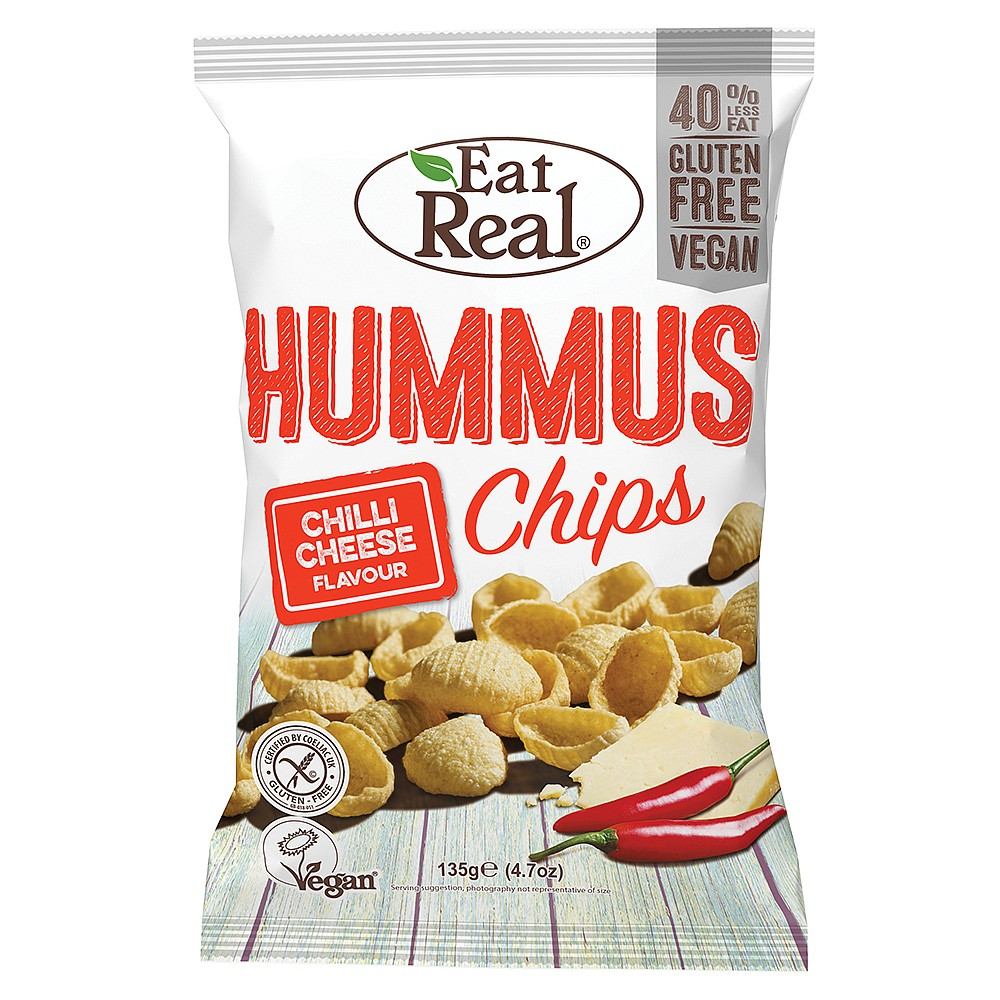 Eat Real Hummus Chips Chilli & Cheese 135g