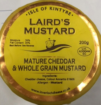 Isle Of Kintyre Lairds Mustard Truckle 200g