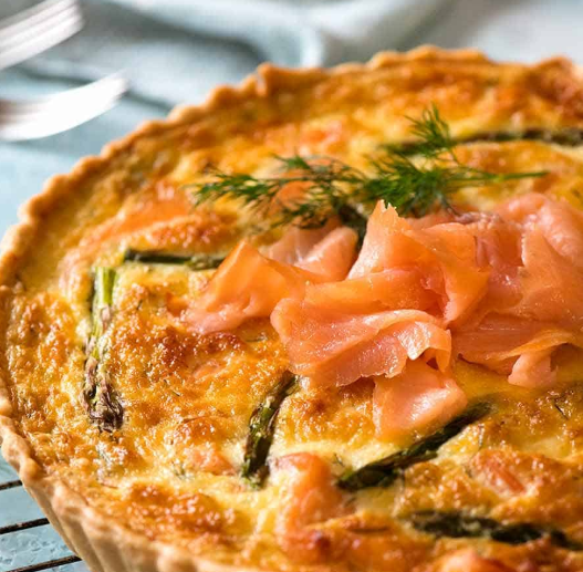 Daily Quiche (Fish) - Slice
