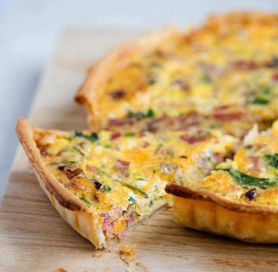 Daily Quiche (Meat) - Slice