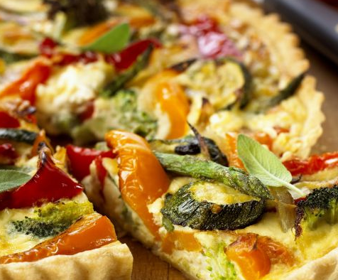 Daily Quiche (Vegetable) - Slice