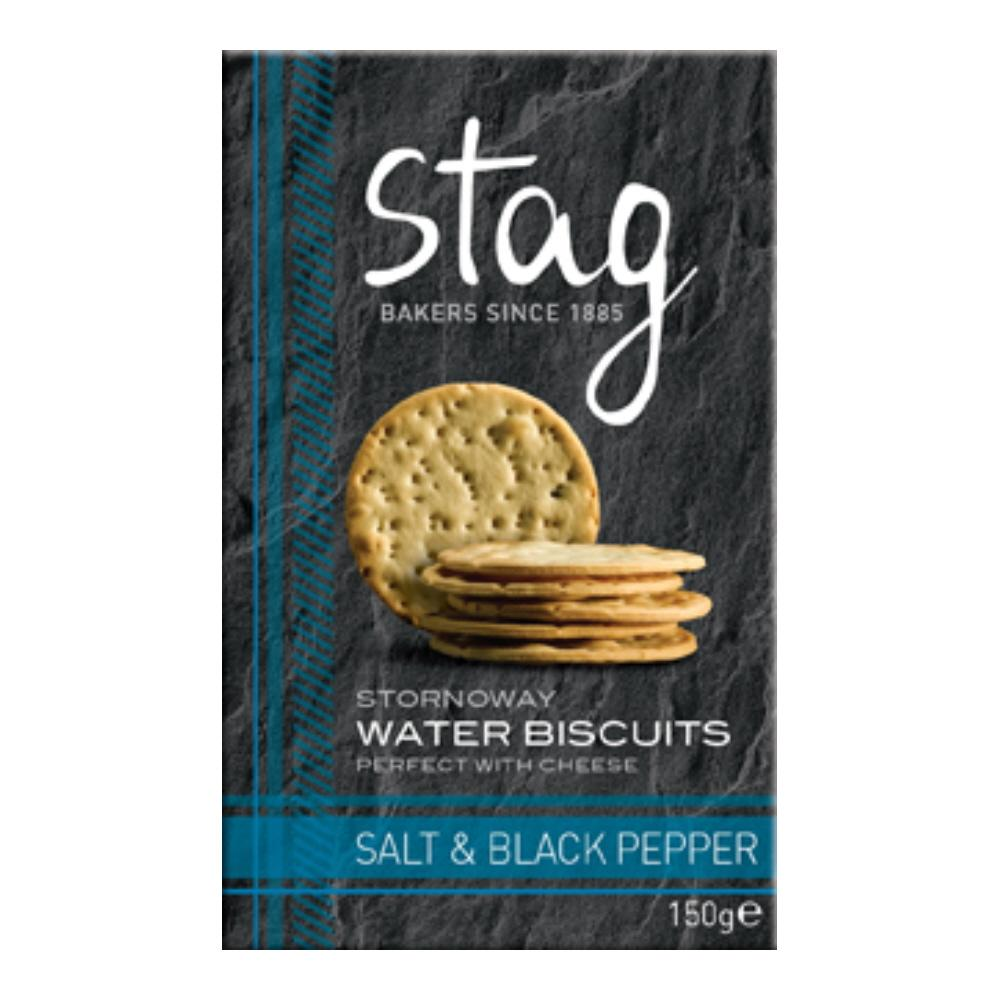 Stag Water Biscuits Salt/Pepper 150g
