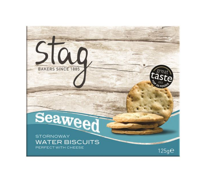 Stag Seaweed Water Biscuits 125g