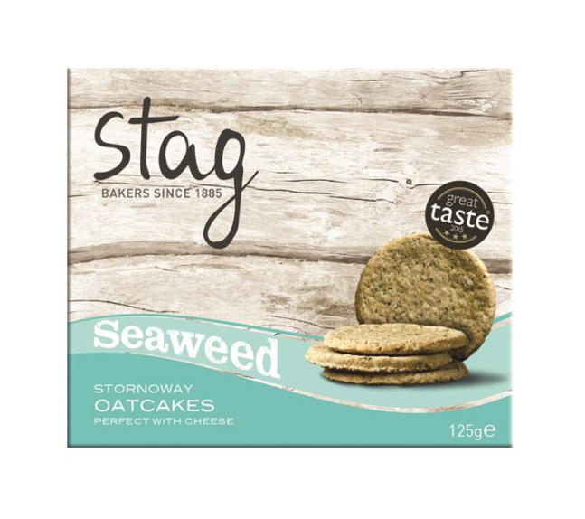 Stag Seaweed Oatcakes 125g