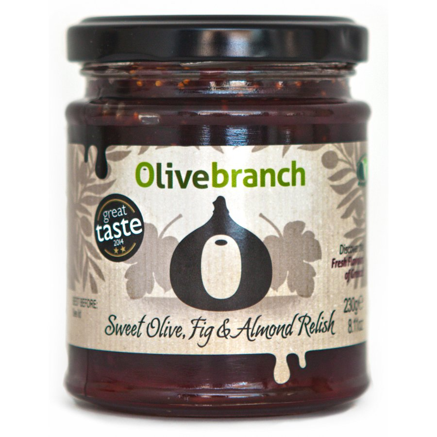 Olive Branch Sweet Olive, Fig & Almond Relish 230g