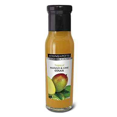 Atkins & Potts Mango and Lime Coulis 250g