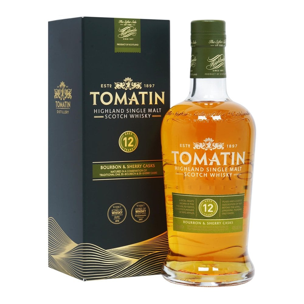 Tomatin 12 Year Old Single Malt Whisky 70cl