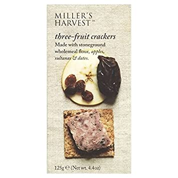 Miller's Harvest Three-Fruit Crackers 125g