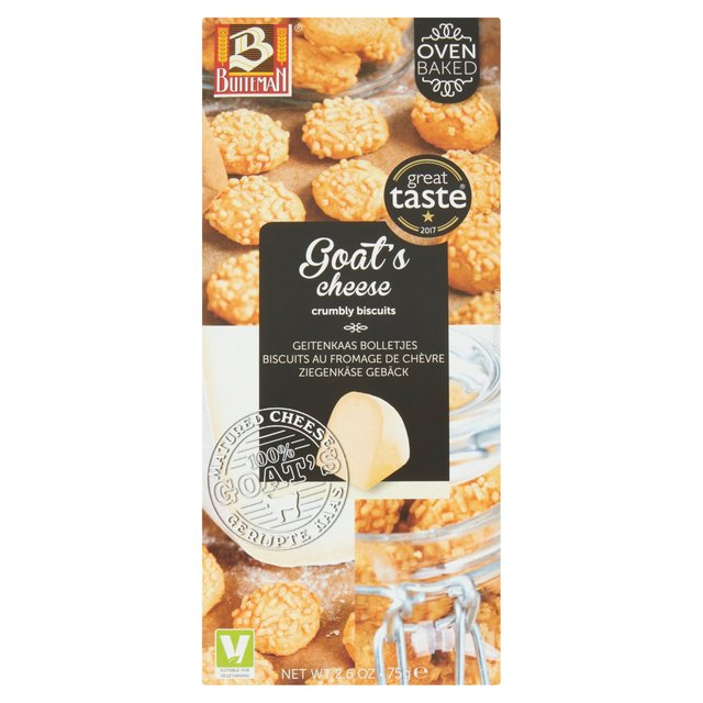 Buiteman Goat's Cheese Biscuits 75g