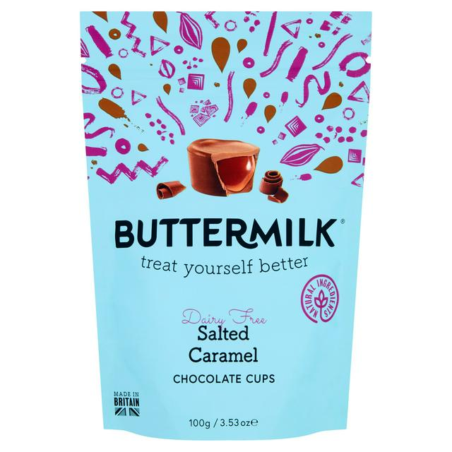 Buttermilk Salted Caramel Cups (dairy free) 75g