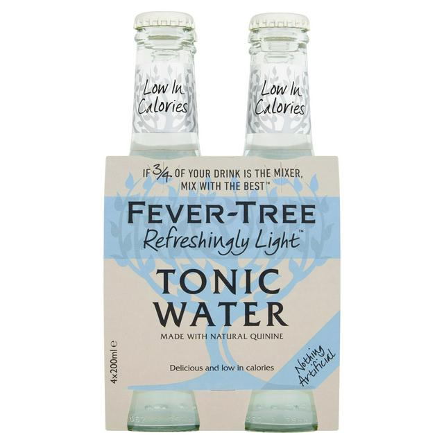 Fever-Tree Refreshingly Light Indian Tonic Water 4x200mL
