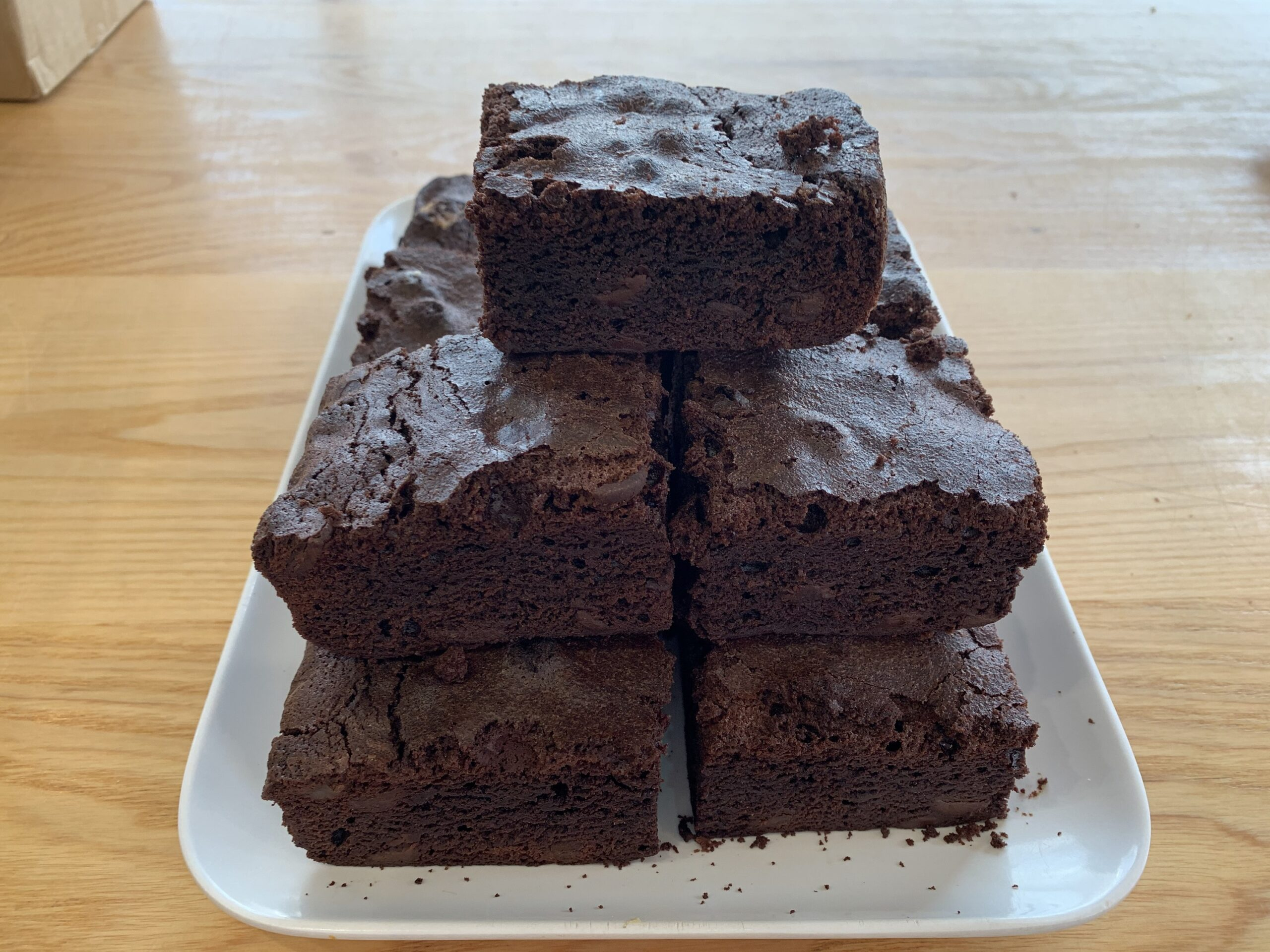 Belgian Chocolate Brownie - slice