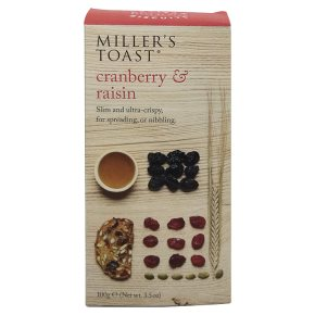 Miller\'s Toast Cranberry & Raisin 100g
