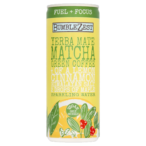 Bumblezest Yerba Mate, Match & Green Coffee Sparkling Water 250mL