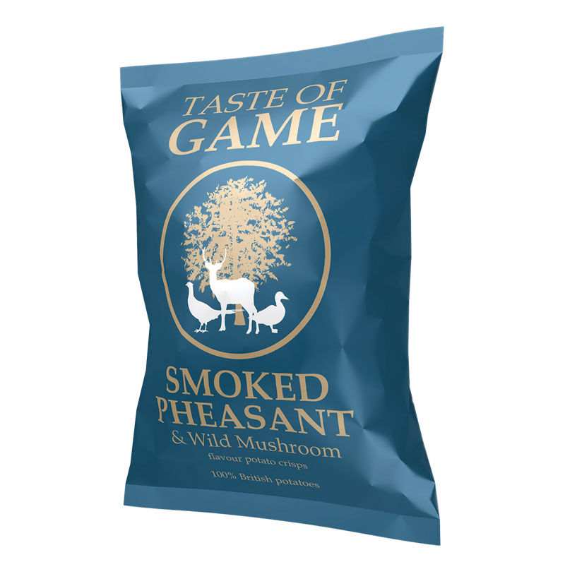 Taste of Game Smoked Pheasant & Wild Mushroom Crisps 150g